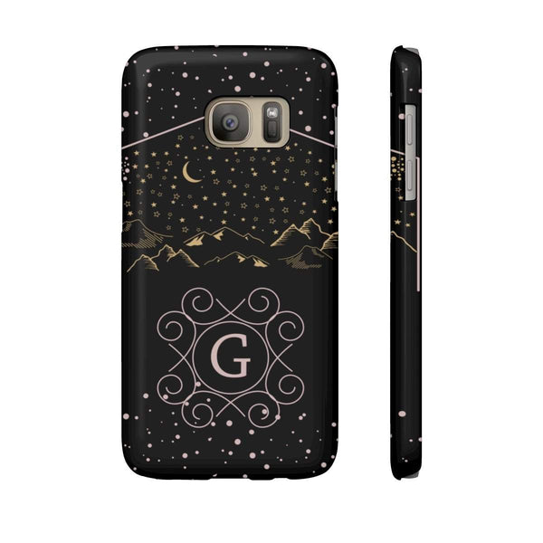 Monogram Collection- Starry Night- Choose your initial G Phone Case-Phone Case-famenxt
