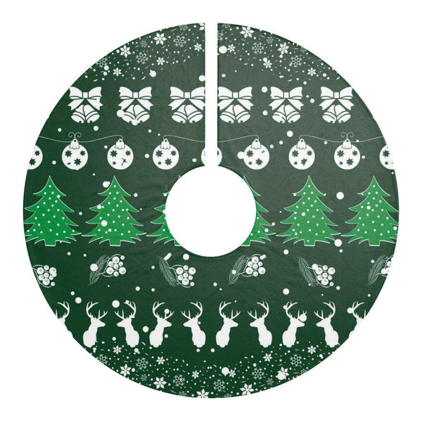 "Christmas Festive Green Pattern 44"" Christmas Tree Skirt-Home Decor-famenxt"