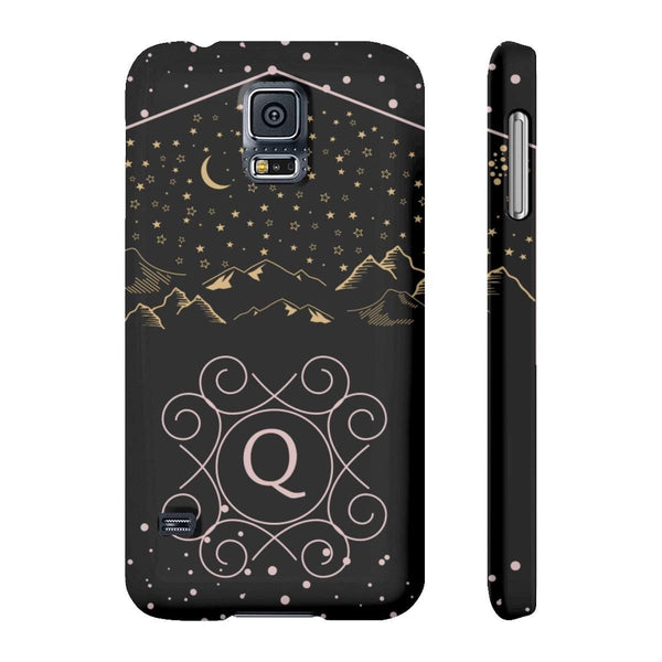Monogram Collection- Starry Night- Choose your initial Q Phone Case-Phone Case-famenxt