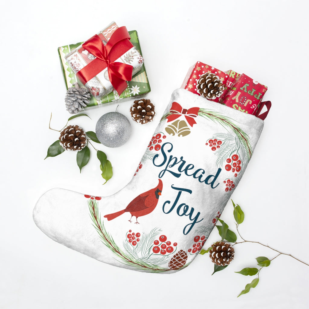 Spread Joy Christmas Stocking Double Sided Printed-Home Decor-famenxt