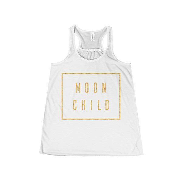 Moon Child Gold Women's Flowy Racerback Tank-Tank Top-famenxt