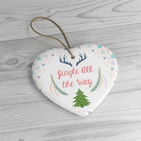 Jingle All the Way Ceramic Ornaments in Four Unique Shapes-Home Decor-famenxt