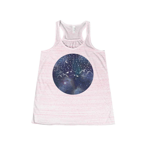 Starry Night Women's Flowy Racerback Tank-Tank Top-famenxt