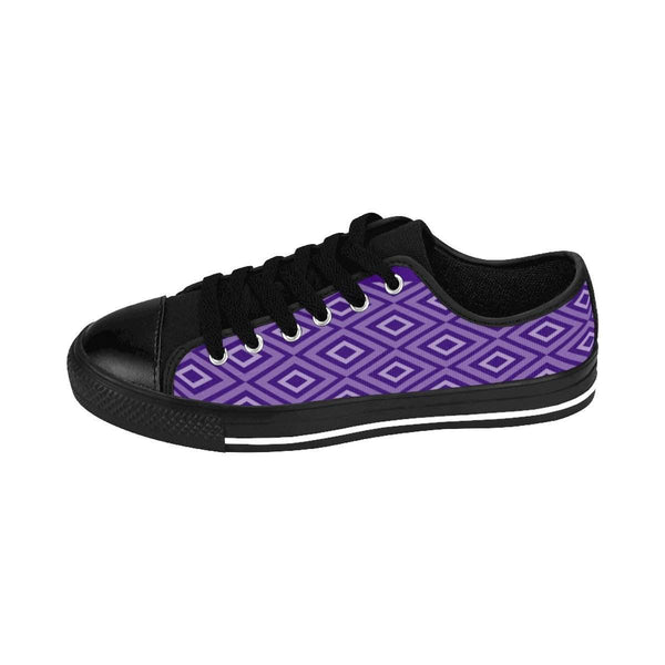 Ultra violet geo pattern Women's Sneakers-Shoes-famenxt