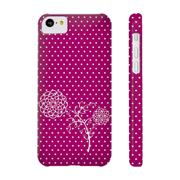 Dots and Flower Slim Phone Cases-Phone Case-famenxt