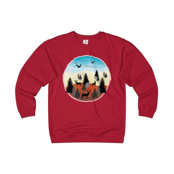 Adventure Time Into The Jungle Unisex Heavyweight/Lightweight Fleece Crew-Sweatshirt-famenxt