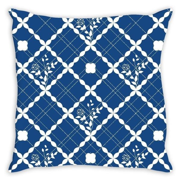 Nautical blue pattern throw pillow case-Pillows-famenxt