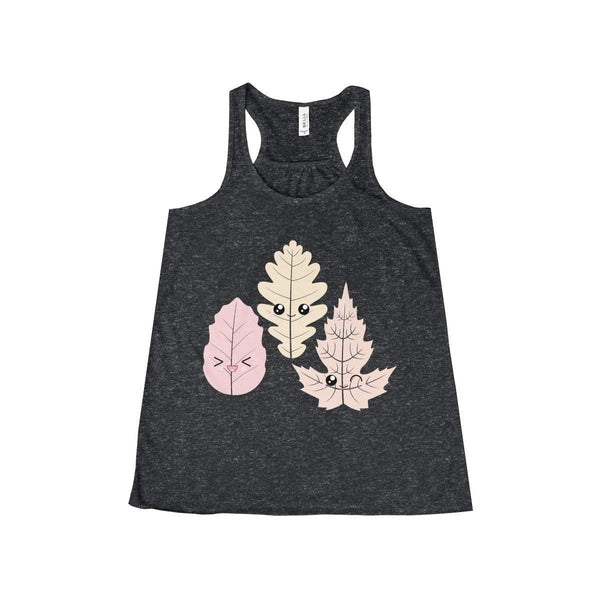 Smiling leaves Women's Flowy Racerback Tank-Tank Top-famenxt