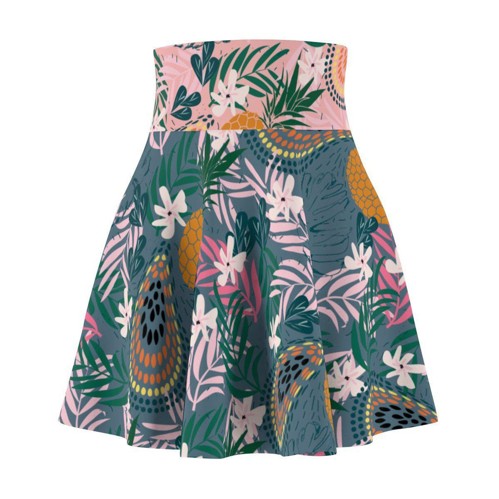 Tropicana Green Women's Skater Skirt-All Over Prints-famenxt