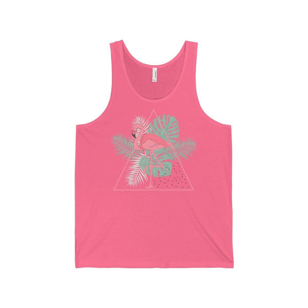 Tropical Flamingo Jersey Tank-Tank Top-famenxt