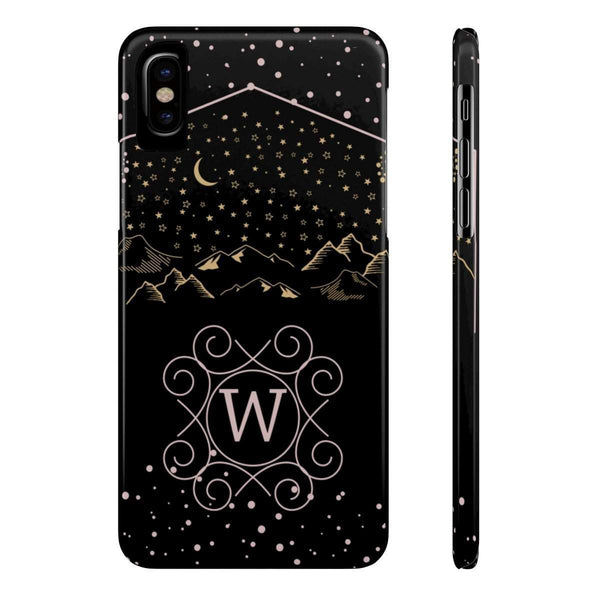Monogram Collection- Starry Night- Choose your initial W Phone Case-Phone Case-famenxt