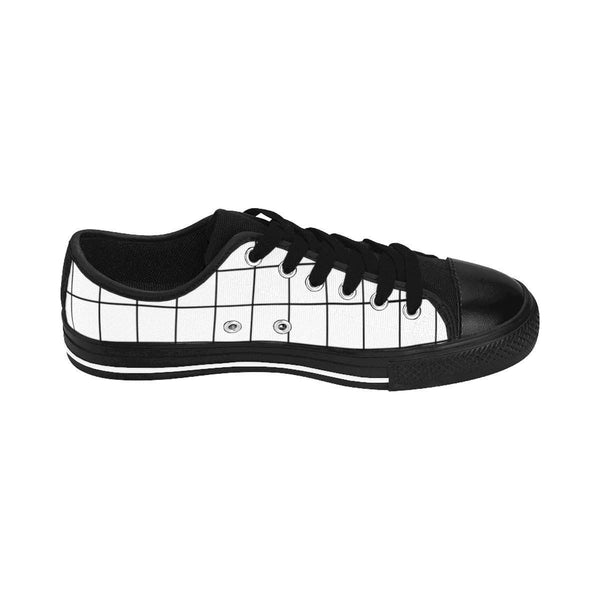 White Grid Women's Sneakers-Shoes-famenxt