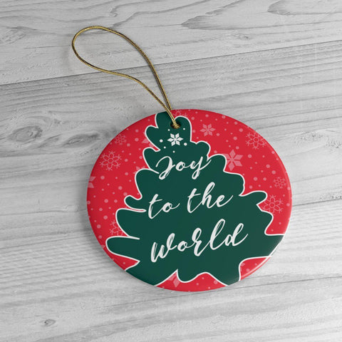 Joy to the World Ceramic Ornaments-Home Decor-famenxt