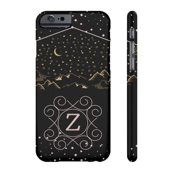 Monogram Collection- Starry Night- Choose your initial Z Phone Case-Phone Case-famenxt