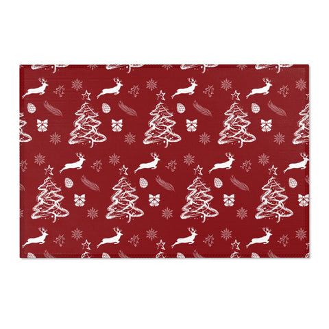 Christmas Pattern Red Area Rugs 2x3, 3x5, 4x6-Home Decor-famenxt
