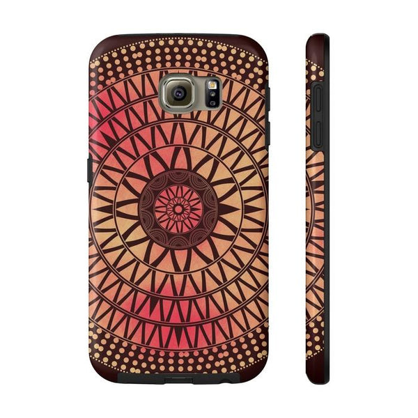 Red Mandala Tough and Slim Phone cases-Phone Case-famenxt