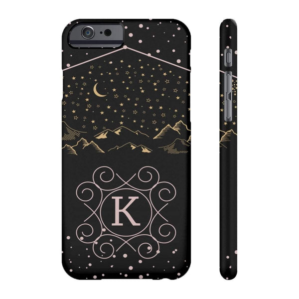 Monogram Collection- Starry Night- Choose your initial K Phone Case-Phone Case-famenxt