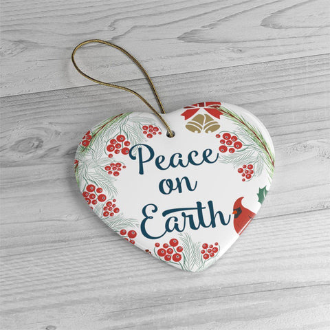 Peace on Earth Ceramic Ornaments in Four Unique Shapes-Home Decor-famenxt