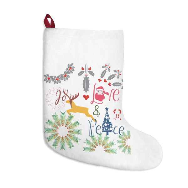 Joy Love Peace Christmas Stocking Double Sided Printed-Home Decor-famenxt
