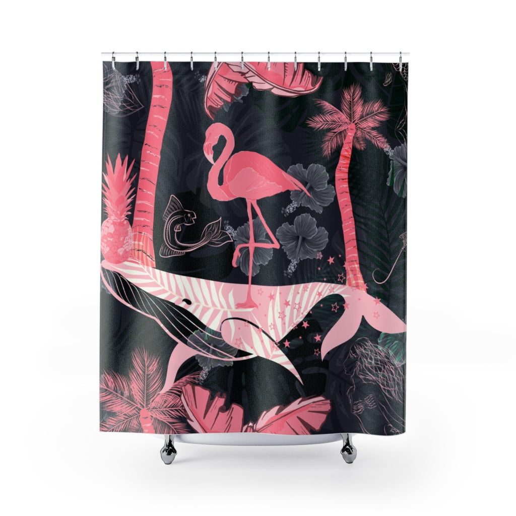 Tropical Surreal Paradise Shower Curtain-Home Decor-famenxt