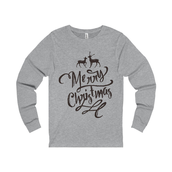 Merry Christmas Typo Unisex Jersey Long Sleeve Tee-Long-sleeve-famenxt