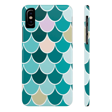 Teal Mermaid Slim Phone Cases-Phone Case-famenxt