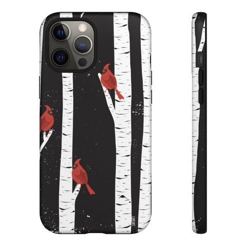 Birch Tree Norther Cardinals Tough Cases-Phone Case-famenxt