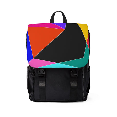 Color Blocks Unisex Casual Shoulder Backpack-Bags-famenxt