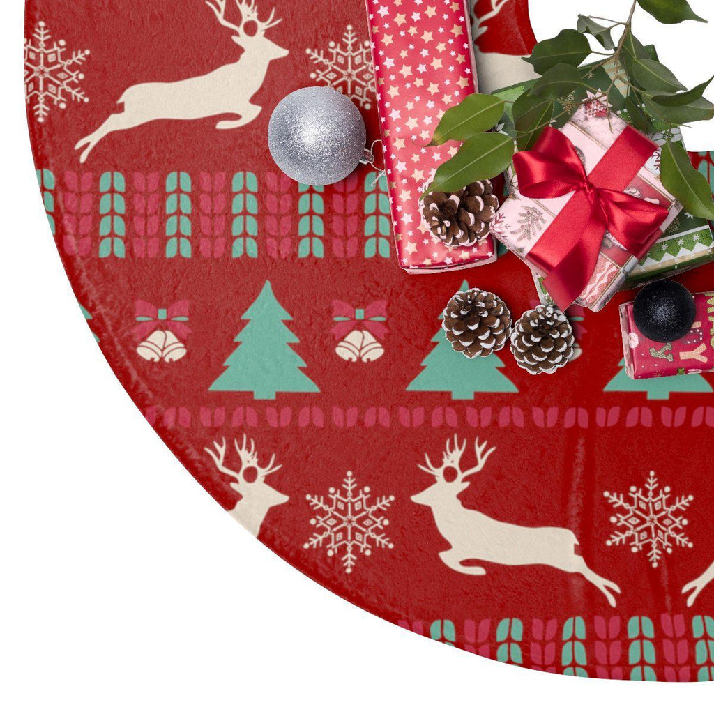 Christmas Pattern Christmas Tree Skirt-Home Decor-famenxt