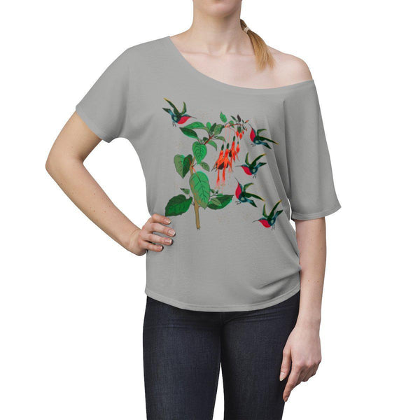 From mybirdparadise Collection The Hummingbirds Women's Slouchy top-T-Shirt-famenxt
