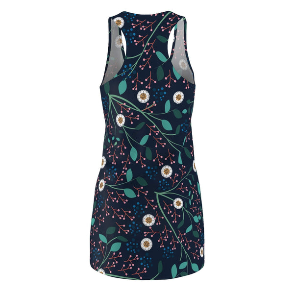Floral Midnight Woman's Racerback Dress-All Over Prints-famenxt