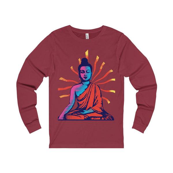 Buddha Positive Vibes Unisex Jersey Long Sleeve Tee-Long-sleeve-famenxt