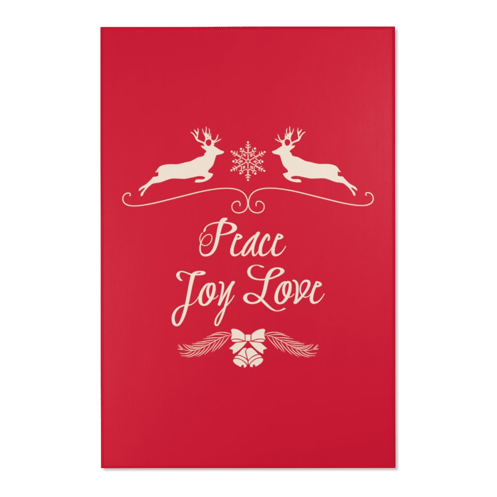 Peace Joy Love Red Area Rugs 2x3, 3x5, 4x6-Home Decor-famenxt