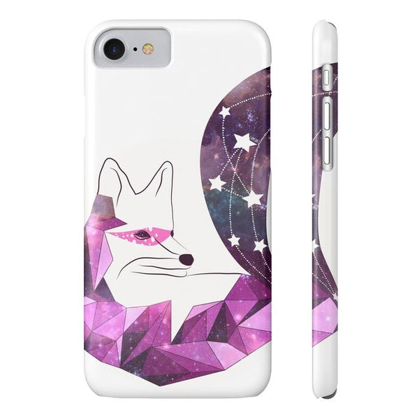 Geometric Pink Fox Tough and Slim Phone cases-Phone Case-famenxt