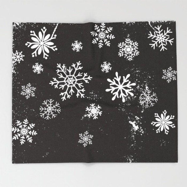 Snow flakes Throw Blanket-Throw Blanket-famenxt