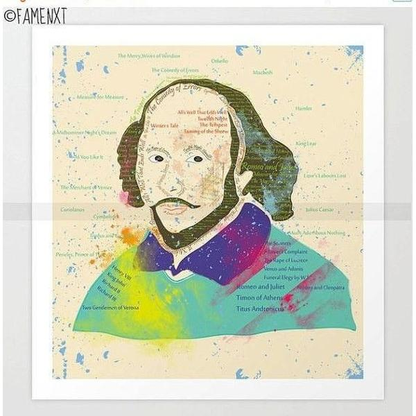 Portrait of William Shakespeare-Posters-famenxt