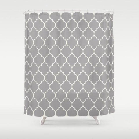 "Geometric Patterned shower curtain Sizes: 70in x 70in, 70in x 83in, 70in x 90in, 71in x 74in Sizes: 70"" x 70"", 70"" x 83"", 70"" x 90"", 71"" x 74""-Shower Curtain-famenxt"
