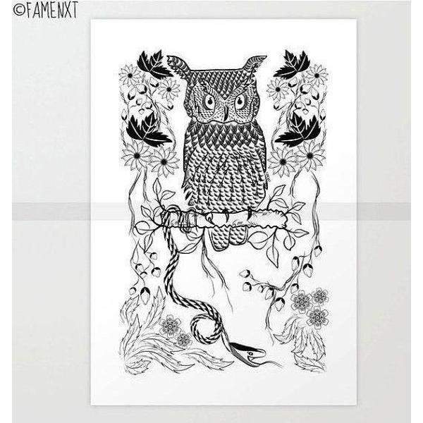 Jungle Owl and Snake-Posters-famenxt