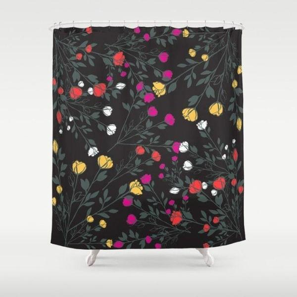 "Shabby chic Rose Garden shower curtain Sizes: 70in x 70in, 70in x 83in, 70in x 90in, 71in x 74in Sizes: 70"" x 70"", 70"" x 83"", 70"" x 90"", 71"" x 74""-Shower Curtain-famenxt"