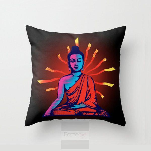 Motivational Buddha Throw Pillow Case-Pillows-famenxt