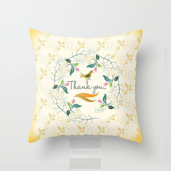 Thank you Throw Pillow Case-Pillows-famenxt