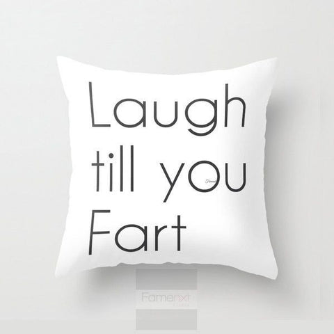 Funny Humorous Throw Pillow Case. Funny Fart Pillow Cover. - famenxtshop.com