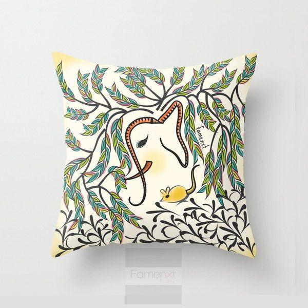Elephant Throw Pillow Case-Pillows-famenxt