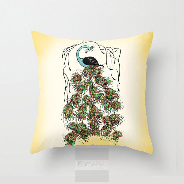 Peacock Throw Pillow Case-Pillows-famenxt