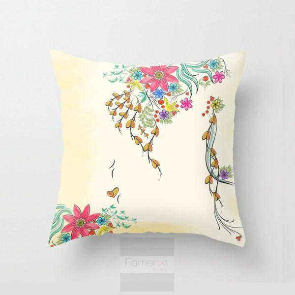 Shabby Chic Decorative Floral Throw Pillow Case-Pillows-famenxt