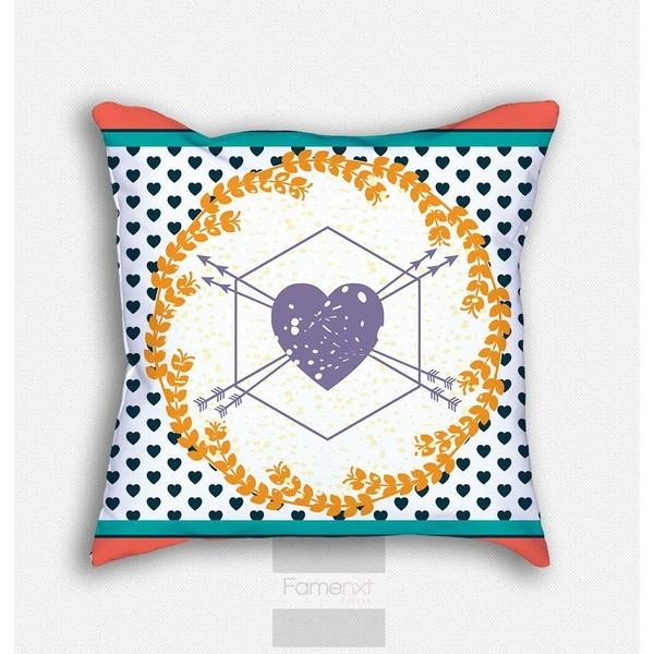 Decorative heart Throw Pillow Case-Pillows-famenxt