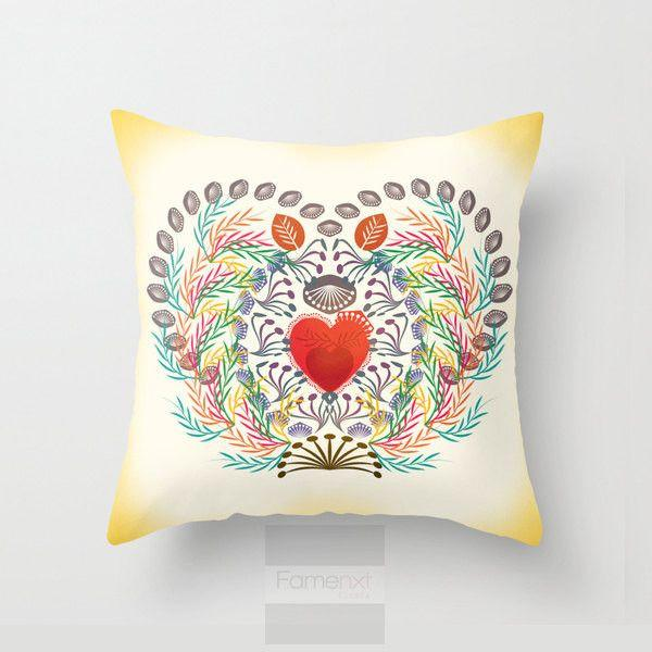 Love Heart Garden Throw Pillow Case-Pillows-famenxt
