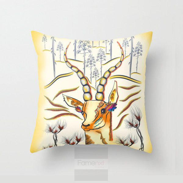 Antelope Throw Pillow Case-Pillows-famenxt