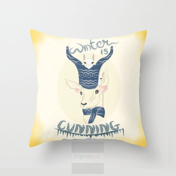 Winter is Cunning Throw Pillow Case - famenxtshop.com