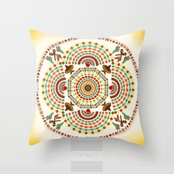 Mexican Pattern Throw Pillow Case-Pillows-famenxt
